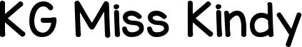 KG Miss Kindy Font