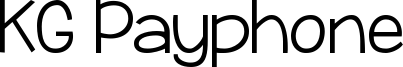 KG Payphone Font