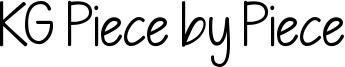 KG Piece by Piece Font