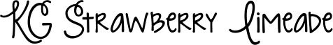 KG Strawberry Limeade Font