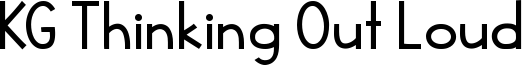 KG Thinking Out Loud Font