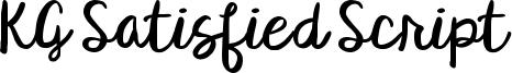KG Satisfied Script Font