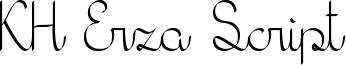 KH Erza Script Font