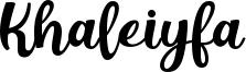 Khaleiyfa Font