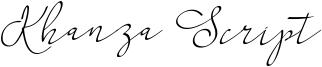 Khanza Script Font