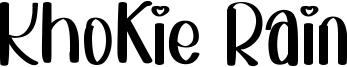 Khokie Rain Font