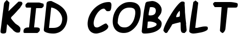 Kid Cobalt Font