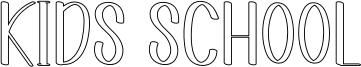Kids School Font