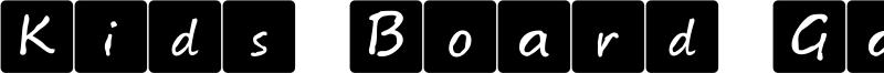 Kids Board Game Font
