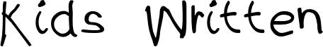 Kids Written Font