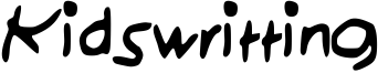 Kidswritting Font