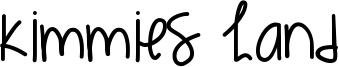 Kimmies Hand Font