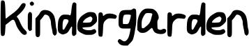 Kindergarden Font