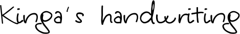 Kinga's handwriting Font