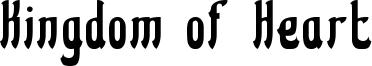 Kingdom of Heart Font