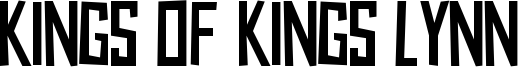 Kings of Kings Lynn Font