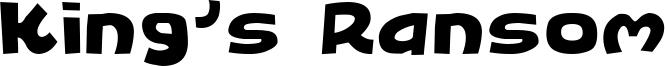 King's Ransom Font