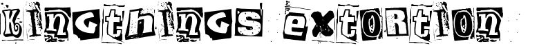 Kingthings Extortion  Font
