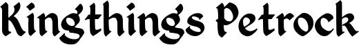 Kingthings Petrock Font