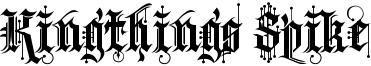 Kingthings Spike Font