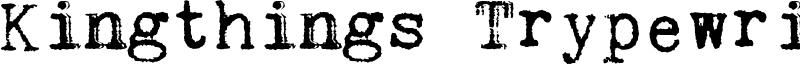 Kingthings Trypewriter Font