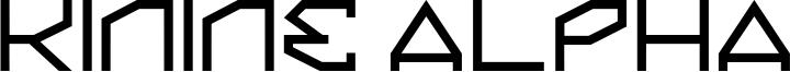 Kinine Alpha Font