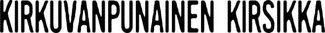 Kirkuvanpunainen kirsikka Font
