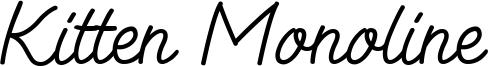Kitten Monoline Font
