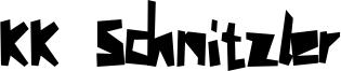 KK Schnitzler Font