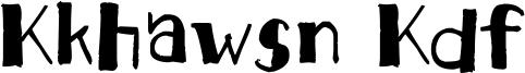 Kkhawsn Kdf Font