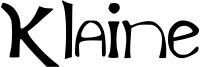 Klaine Font