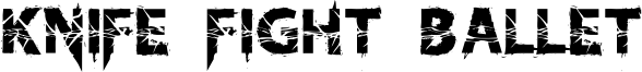 KnifeFightBallet-Regular.otf