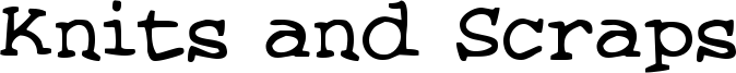 Knits and Scraps Font