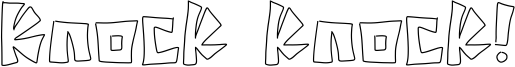 Knock knock! Font