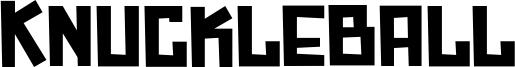 Knuckleball Font