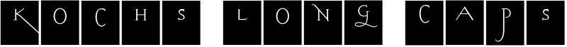 Kochs Long Caps Squares Font