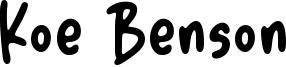 Koe Benson Font