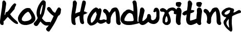 Koly Handwriting Font