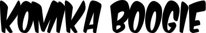 Komika Boogie Font
