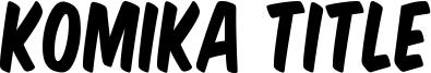 Komika Title Font