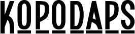 Kopodaps Font