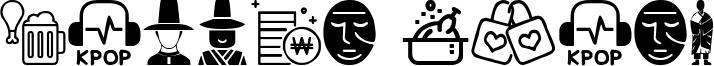 Korean Icons Font