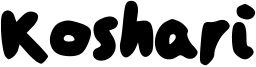 Koshari Font