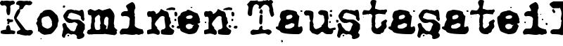 Kosminen Taustasateily Font