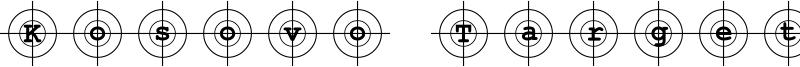 Kosovo Target Font