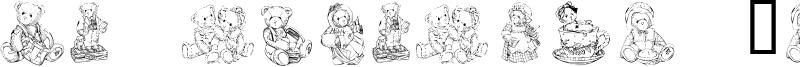 KR Adorable Teddies Font