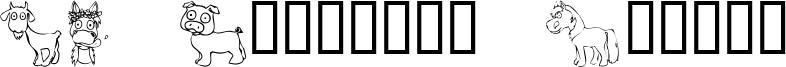 KR Barnyard Scraps Font