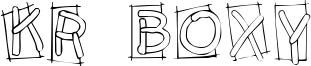 KR Boxy Font