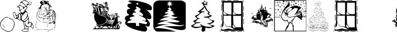 KR Christmas 2001 Font