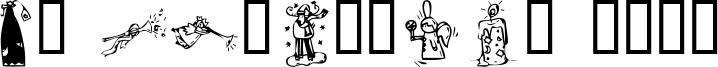 KR Christmas 2002 Font